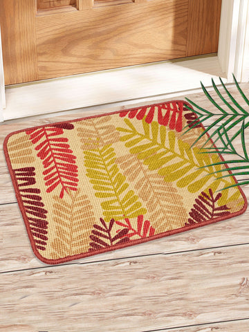 Combo of 2 Pc Leaf Design Jute Mat (SOC-167-40*60CM)
