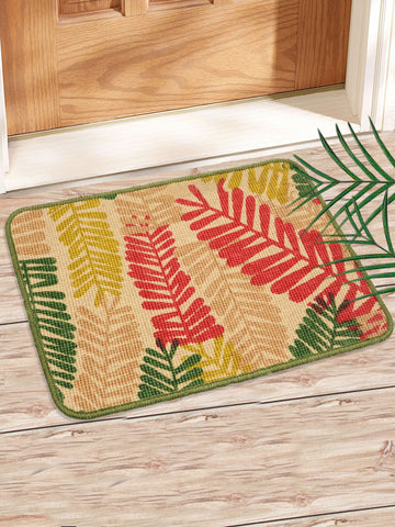 Combo of 2 Pc Leaf Design Jute Mat (SOC-168-40*60CM)