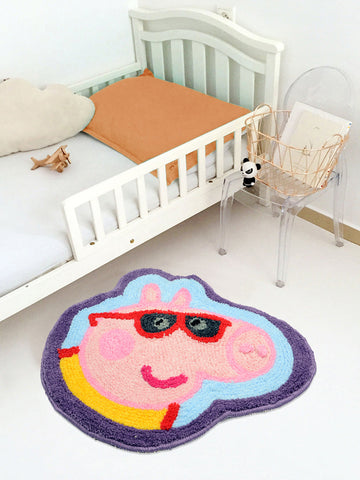 Peppa Pig Shape Microfibre Kids mat (Light_Blue-50*60 CM)