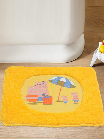 Peppa Pig Cartoon Character Microfibre Bathmat (Yellow-40*60 CM)