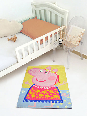 Peppa Pig character printed Multipurpose Cotton Rugs (Multi-50*70CM)