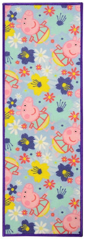 Peppa Pig Cartoon Character Polyester made Kids Runner (SOS-1332-Multi-45*120CM)