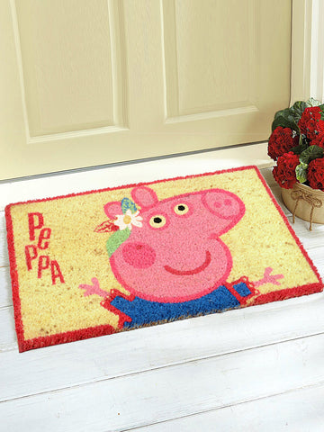 Peppa Pig Printed Coir-made Doormat (Beige-40*60CM)