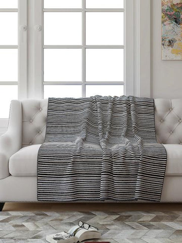 Saral Home Stripe Textured Sofa Throw