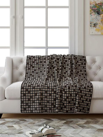 Saral Box Textured Sofa Throw