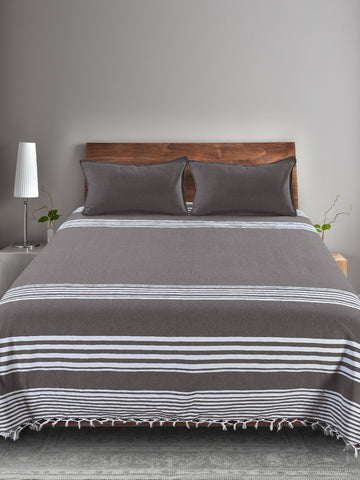 Cotton Stripe Woven Bedcover set