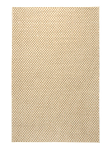 Saral Home Mini Check Jute Carpet With Rubber Latex
