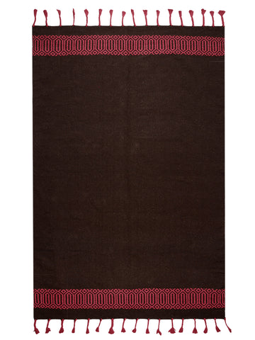 Saral Home 100% Cotton Tassle Rug (140x200)