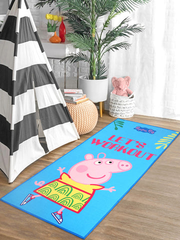 Peppa-Pig Printed Yoga mats + Carry bag