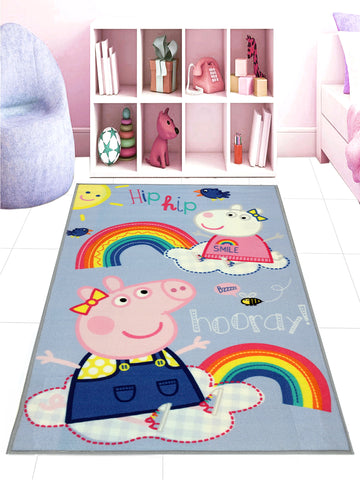 Peppa-Pig Carpet ( 80x130cm,Light blue )