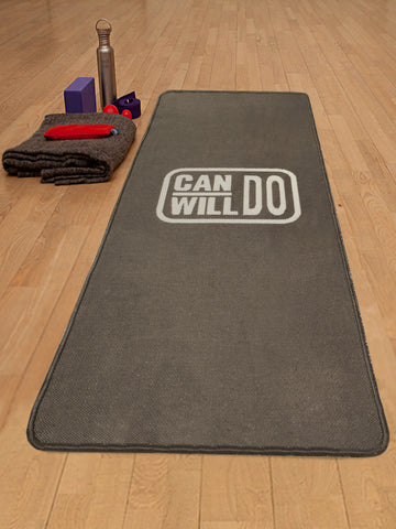 Grey Hand Woven Anti-skid Washable Yoga Mat + Carry bag (70x170cms)