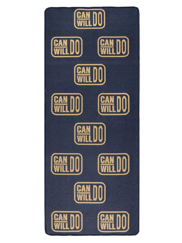 Navy Blue Hand Woven Anti-skid Washable Yoga Mat + Carry bag(70x170cm)