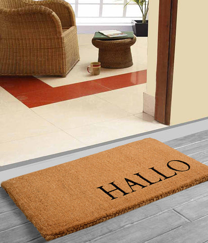 Hallo Printed Heavy Duty Coir Made Doormat
