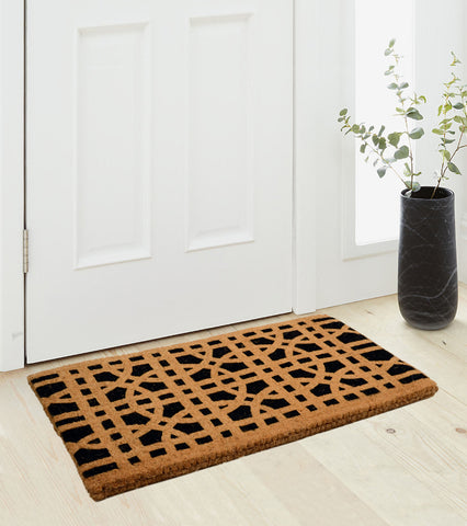 Heavy Duty Coir Made Mansion Design Doormat