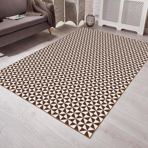 Saral Home Abstract Design Jacquard Floor Carpet