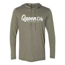 Load image into Gallery viewer, Queen City Running Co. Hooded T-Shirt