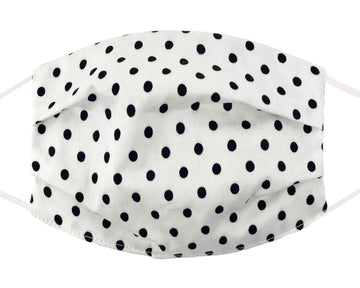 Comfort Mask - Black Polka Dot on White
