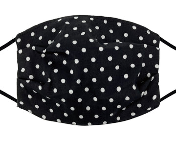 Comfort Mask - White Polka Dot on Black