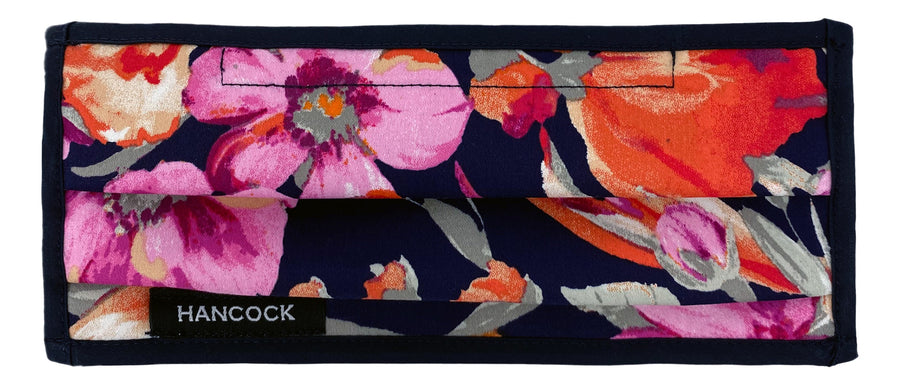 Face Mask - Navy, Pink, Orange Floral