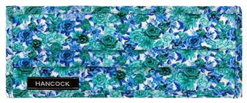 Face Mask - White, Blue, Teal, Floral