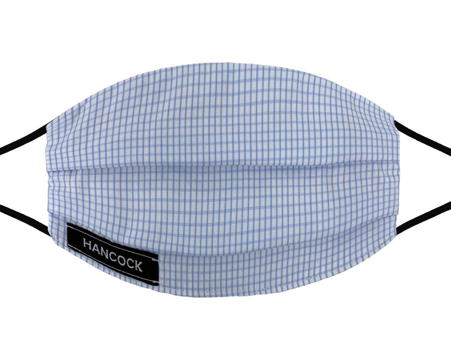 Comfort Mask - Light Blue Wide Check