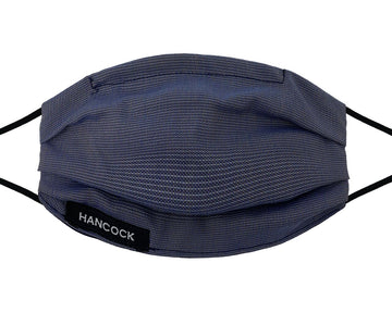 Comfort Mask - Navy Gold Blue Weave