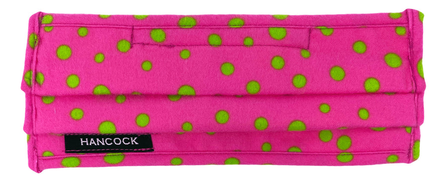 Face Mask - Pink Polka Dot Flannel