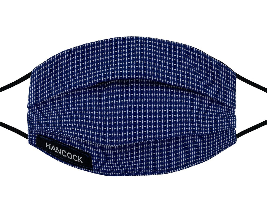 Comfort Mask - Royal Blue and White Check