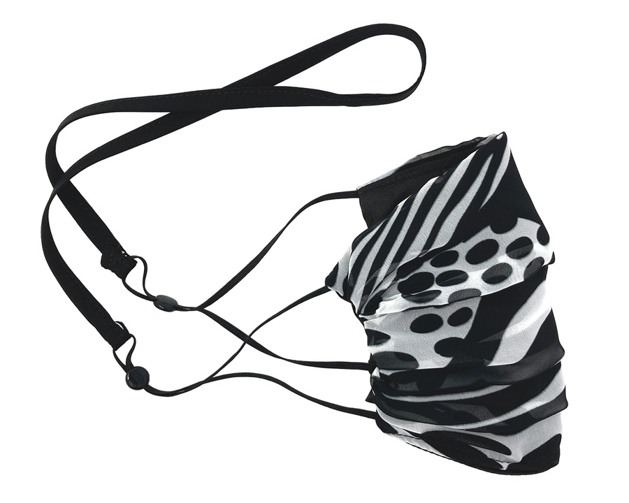 Mask Holder - Black Cotton Strap