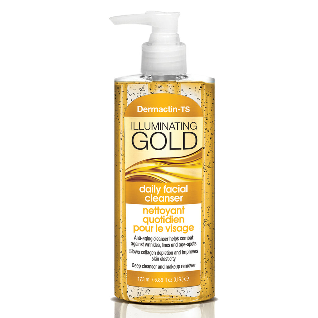 Dermactin-TS Illuminating Gold Daily Facial Cleanser 5.85 oz.