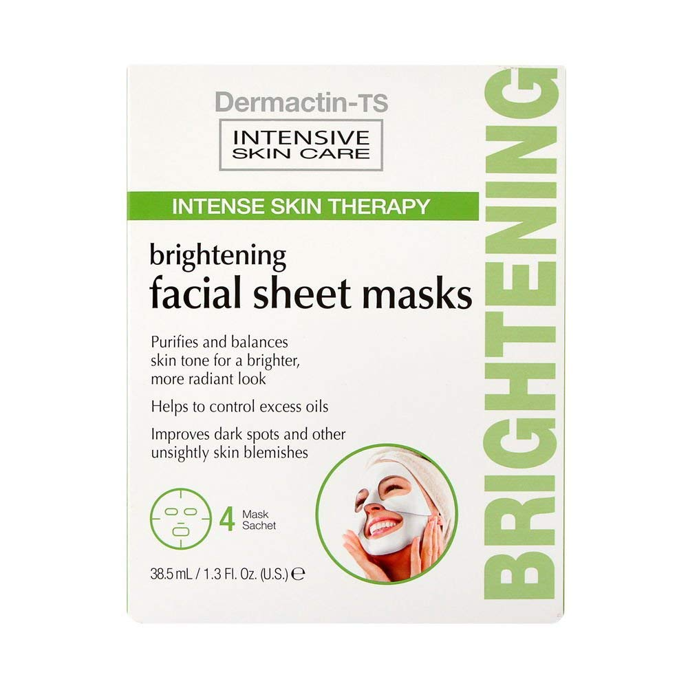 Dermactin-TS 4 Piece Facial Brightening Sheet Mask