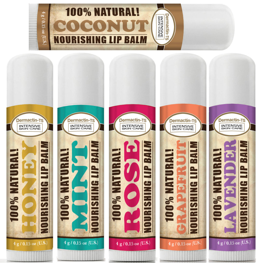Dermactin-TS 100% Natural Lip Balms (3-PACKS) 6-Varieties