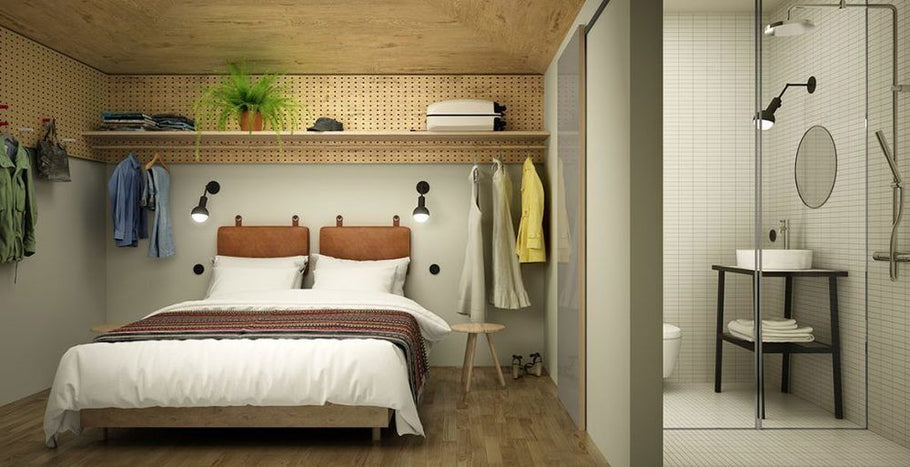 Small-Space Solutions: 5 Tiny Bedroom (and Dorm) Ideas to Steal from Stockholm's Hobo Hotel