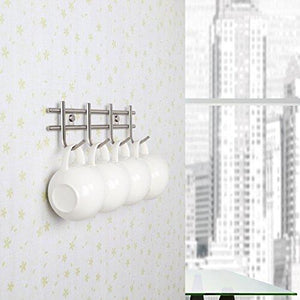 Shop here urevised wall mounted coat rack hooks heavy duty wall hooks rack robe hooks metal decorative hook rail for bathroom kitchen office entryway hallway closet hooks brushed finish
