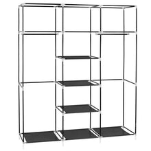 Load image into Gallery viewer, Shop here hello22 69 closet organizer wardrobe closet portable closet shelves closet storage organizer with non woven fabric quick and easy to assemble extra strong and durable extra space
