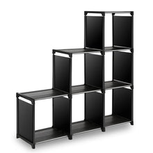 Load image into Gallery viewer, Try tomcare cube storage 6 cube closet organizer shelves storage cubes organizer cubby bins cabinets bookcase organizing storage shelves for bedroom living room office black