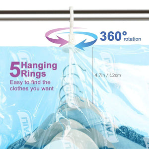 Save taili hanging vacuum storage bags for clothes set of 4 long 53x27 6 inches space saver bags for suits dress coats or jackets vacuum sealed clothing bags for closet organizer and storage