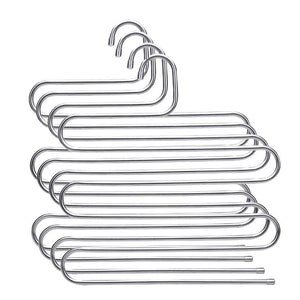 Featured syidinzn pants hangers rack holder stand shelf organizer stainless steel s shape multi purpose hangers storage rack for clothes pants jeans trousers scarfs ties towels closet