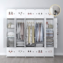 Load image into Gallery viewer, Save yozo modular closet portable wardrobe dreeser organizer clothes storage organizer chest of drawers cube shelving for teens kids diy furniture white 8 cubes