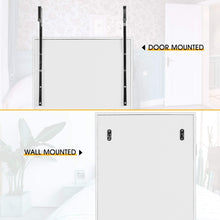 Load image into Gallery viewer, Great cloud mountain jewelry cabinet 6 leds jewelry armoire lockable wall door mounted jewelry cabinet organizer with mirror 2 drawers bedroom living room cloakroom closet white
