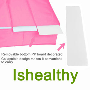 Exclusive ishealthy underwear drawer storage organizer with cover oxford fabric 2 in 1 washable and foldable storage box closet divider for bras socks ties scarves and handkerchiefs pink