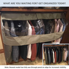 Load image into Gallery viewer, Save on garment cover for closet rod and portable clothing rack shoulder dust cover protect your wardrobe in style adjustable to fit 20 to 36 long 6 pack