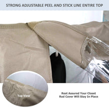 Load image into Gallery viewer, The best garment cover for closet rod and portable clothing rack shoulder dust cover protect your wardrobe in style adjustable to fit 26 to 48 long 6 pack