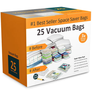 Exclusive everyday home 83 79 vacuum storage bags space saving air tight compression shrink down closet clutter store and organize clothes linens seasonal items 25
