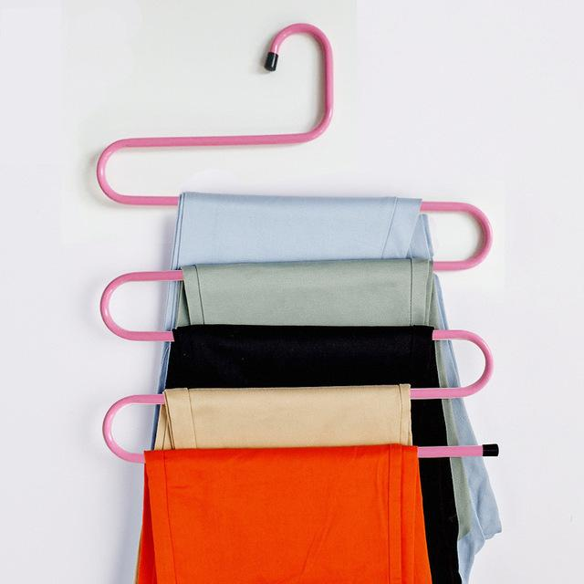 Pants Trousers Hanger - Multi Layers Clothing Rack Space Saver