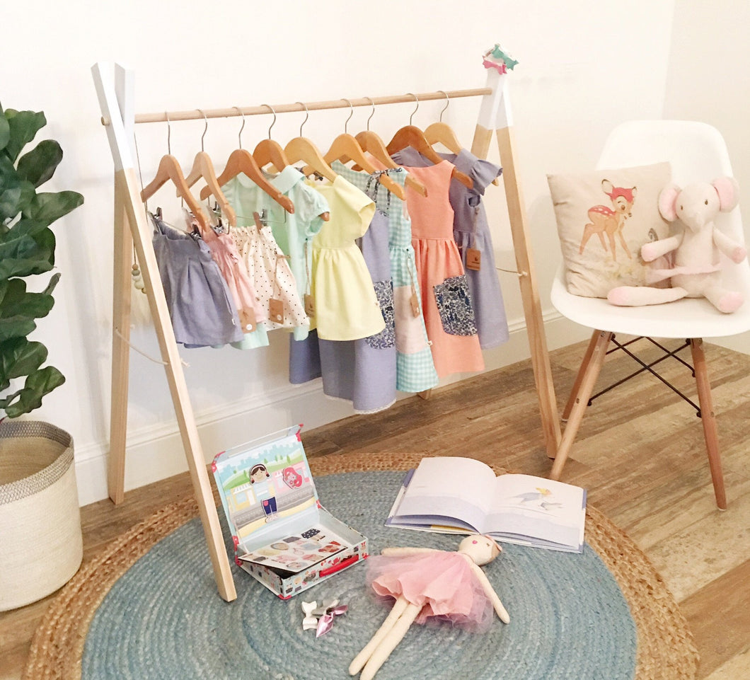 Wooden clothes rack- in 6 colours & 2 sizes!
