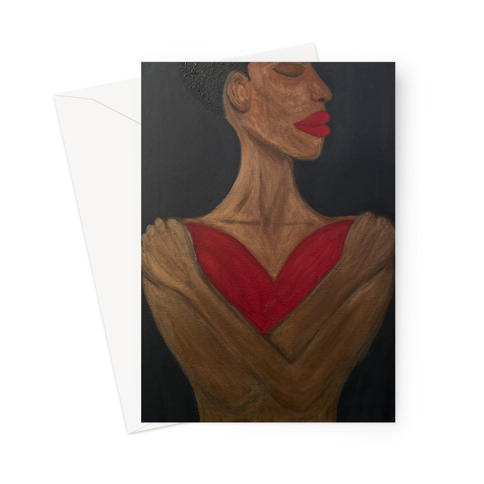 A Heart to Hold Greeting Card - Amja Art
