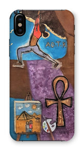 """Warrior 1"" (YOGA) Phone Case - Amja Art"