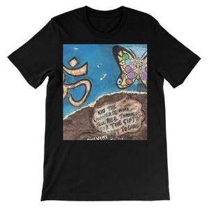 """ Kiss the Universe"" All People Short Sleeve T-Shirt - Amja Art"