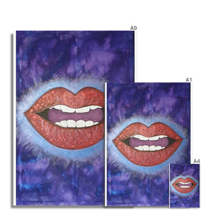 LoveLee Lips Hahnemühle German Etching Print - Amja Art
